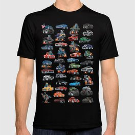 American Hot Rods, Muscle Cars, Street Rods, Pickup Trucks and Motorcycle Cartoons T-shirt