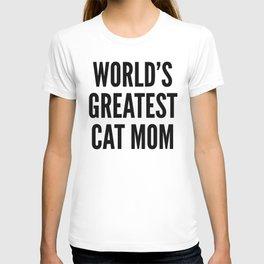 WORLD'S GREATEST CAT MOM (Brown) T-shirt
