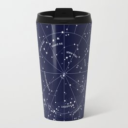 Constellation Map Indigo Travel Mug