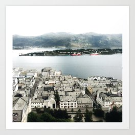 Alesund from the top of the hill Art Print