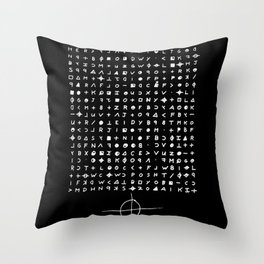 Zodiac killer Throw Pillow