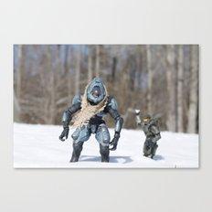Snowball Fight Canvas Print