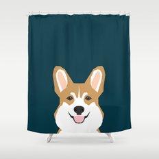 Teagan - Corgi Welsh Corgi gift phone case design for pet lovers and dog people Shower Curtain
