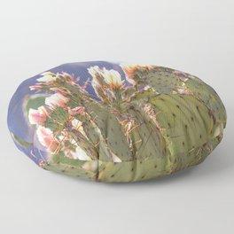 Prickly Pear Cactus Blooms, II Floor Pillow