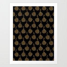 Trendy Polka Dot Pompom Art Print