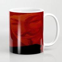 vendetta Mugs featuring V for Vendetta (e3) by Ezgi Kaya