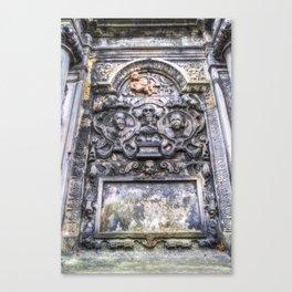 Ancient Grave Stone Greyfriars Kirk Graveyard Canvas Print