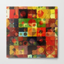 Digital Quilt Metal Print