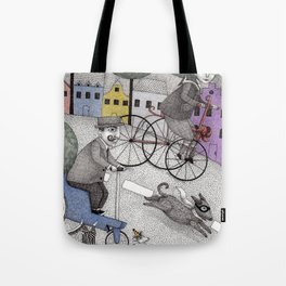 The Day the Cat got Away Tote Bag