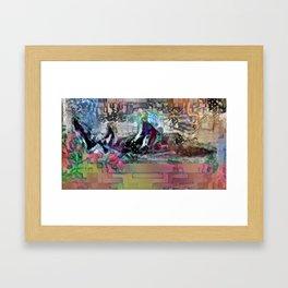 Shark Like a Guppy Framed Art Print