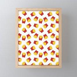 FRENCH FRIES POMMES FAST FOOD PATTERN Framed Mini Art Print