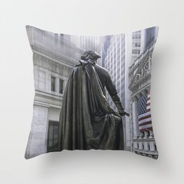 New York City's Wall Street Throw Pillow