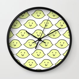Lemon Pattern Cute Summer Wall Clock