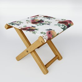 Floral Watercolor Bouquet Pattern Folding Stool