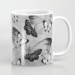 Vintage Butterflies (greyscale) Coffee Mug