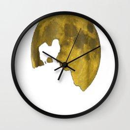 Japanese Chin And Moon Halloween 31st October T-Shirt Wall Clock