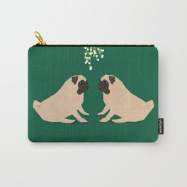 Pug Mistletoe Carry-All Pouch