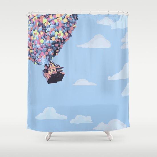 Disney Pixar Up Balloons And Sky With House Shower