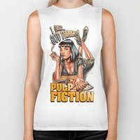 mia wallace Biker Tanks featuring Mia Wallace - Pulp Fiction by Renato Cunha