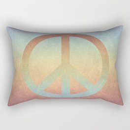 Peace V Rectangular Pillow