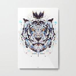 tigre Metal Print