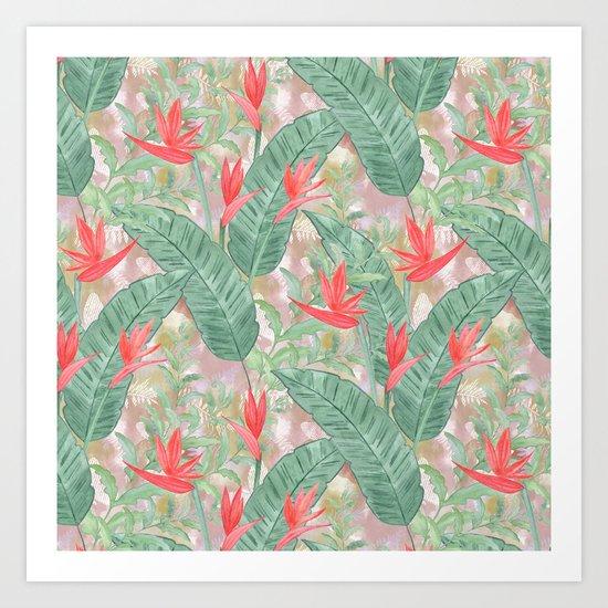 Tropical pattern 3 Art Print