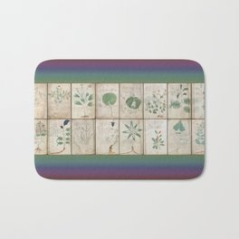 The Voynich Manuscript Quire 1 - Natural Bath Mat