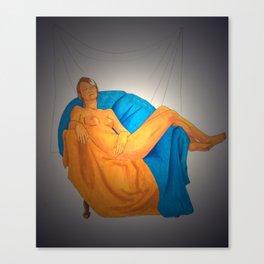 Warm Color Figure Canvas Print