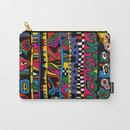 Hand Painted Street Style Print by Nettwork2Design - Nettie Heron-Middleton Carry-All Pouch