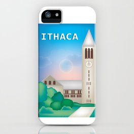 Ithaca, New York - Skyline Illustration by Loose Petals iPhone Case