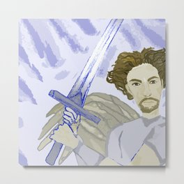 Clashing of Swords Metal Print
