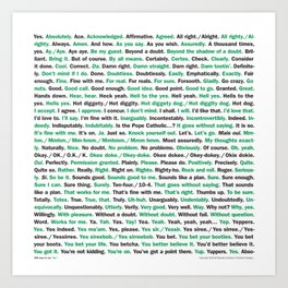 """208 Ways to Say """"Yes."""" Art Print"""