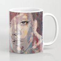rihanna Mugs featuring Rihanna by Bit of Art
