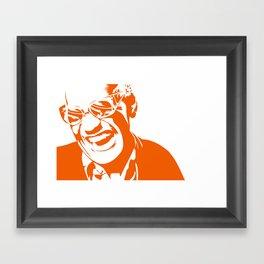 Ray Charles – Orange Framed Art Print