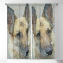 Unconditional Love Holly German Shepard Blackout Curtain