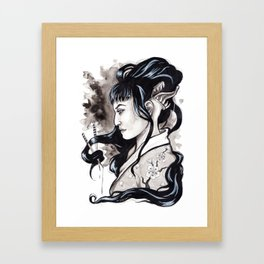 Futakuchionna Inktober Illustration Framed Art Print