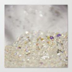 White Crystals Bokeh Canvas Print
