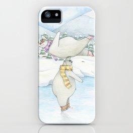 Figure skating polar bears iPhone Case