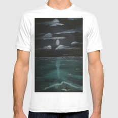 Moonrise Over Northumberland Strait White Mens Fitted Tee X-LARGE