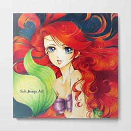 Ariel, the little mermaid Metal Print