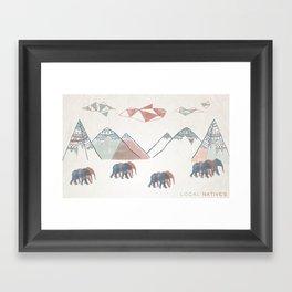Local Natives Framed Art Print