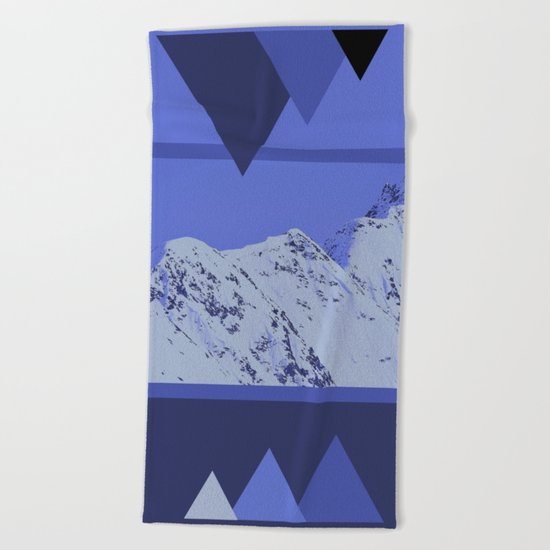 Alaskan Mountains - Periwinkle Beach Towel