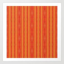 Orange Sunset Stripe Pattern Art Print