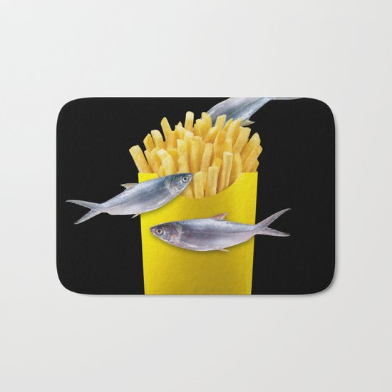 fish and chips Bath Mat