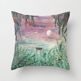 Haku and Chihiro Painting Throw Pillow