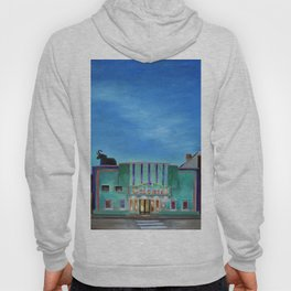 Evening at the Colonial Movie Theater Painting Hoody