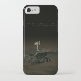 My battery is low and it's getting dark. iPhone Case