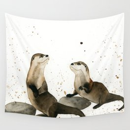 Otters Wall Tapestry