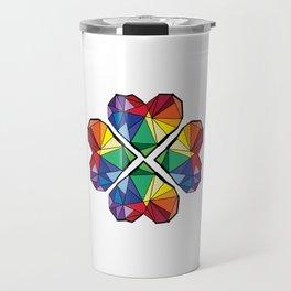Rainbow color clover leaf Travel Mug