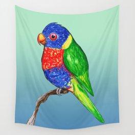 Cute rainbow lorikeet Wall Tapestry